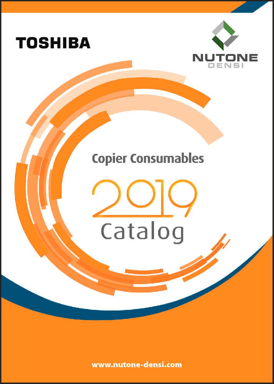 Copier Consumables Catalog Cover TOSHIBA